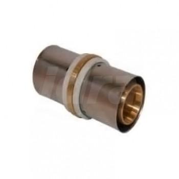 Raccordo manicotto diritto intermedio ø50/4,5 press. per multistrato FK7PM5050 - A pressare per multistrato
