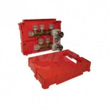 Collettore complanare completo di cassetta ad incasso L.220 x H.160 x P. 72 KF0001 - Collettori di distribuzione