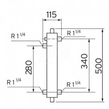Collettore di bilanciamento WH 40 con isolamento VLT306720