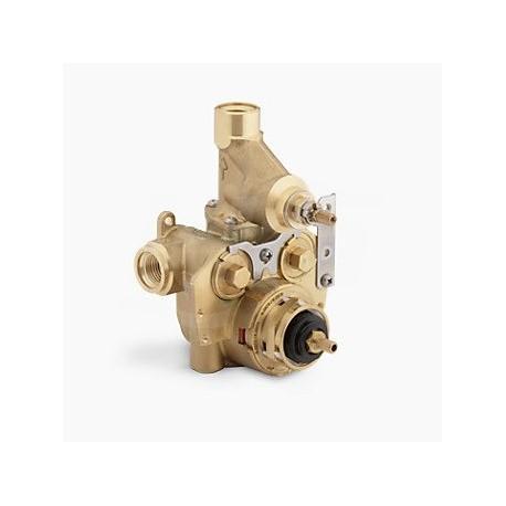 """Mastershower - 1/2"""" Valvola termostatica wc con controllo e arresti del volume integrati KLR2973-KS-NA"""