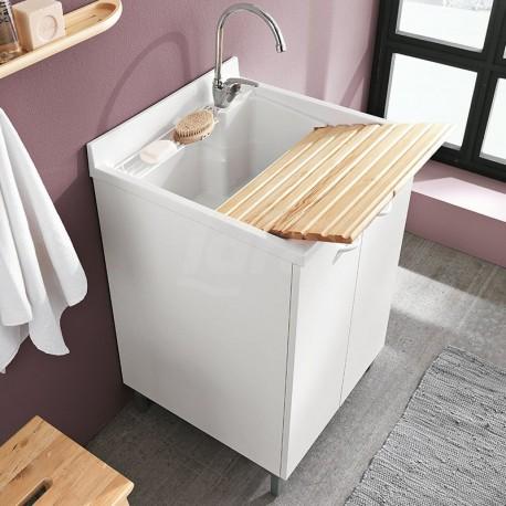 Lavatoio Per Lavanderia Ideal Standard.Prima Lavatoio Lavanderia Con Asse Pino 60x60 Cm Gem7003primal
