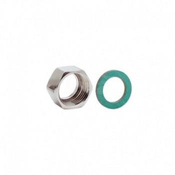 Dadi in ottone nichelato a sede speciale con filettatura femmina ISO 228 G EURA02-0010-00726