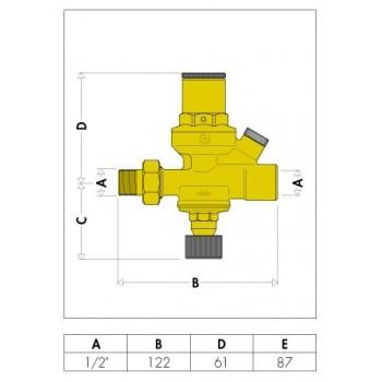 """553 gruppo di riempimento anticalcare con manometro ø1/2"""" 553640 - Sicurezza/Vasi/Centrale termica"""