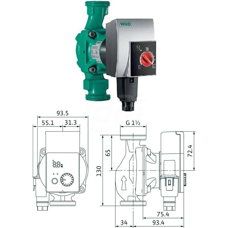Circolatore alta efficienza Yonos Pico 25/1-6-130 4164018 - Elettropompe