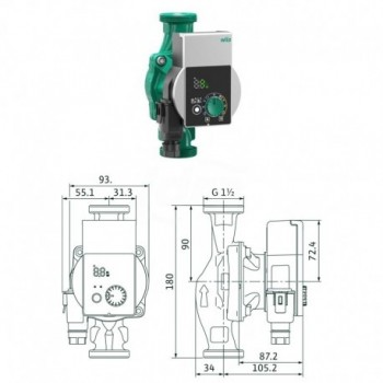 Circolatore alta efficienza Yonos Pico 25/1-8 4215517 - Centrifughe multistadio