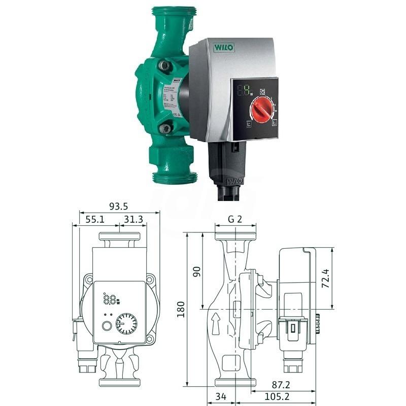 Circolatore alta efficienza Yonos Pico 30/1-8 WIL4215521