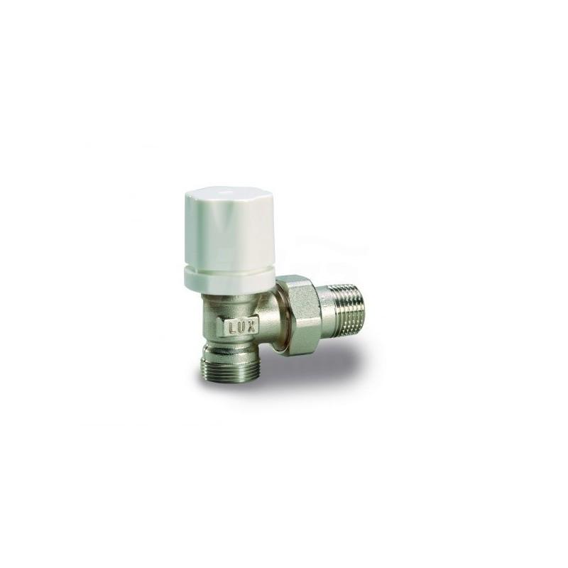 Rs 2512 Valvola radiatore a squadra termostatizzabile con  Vt2600T.R. 1/2 Nic.En215 LUX12722100