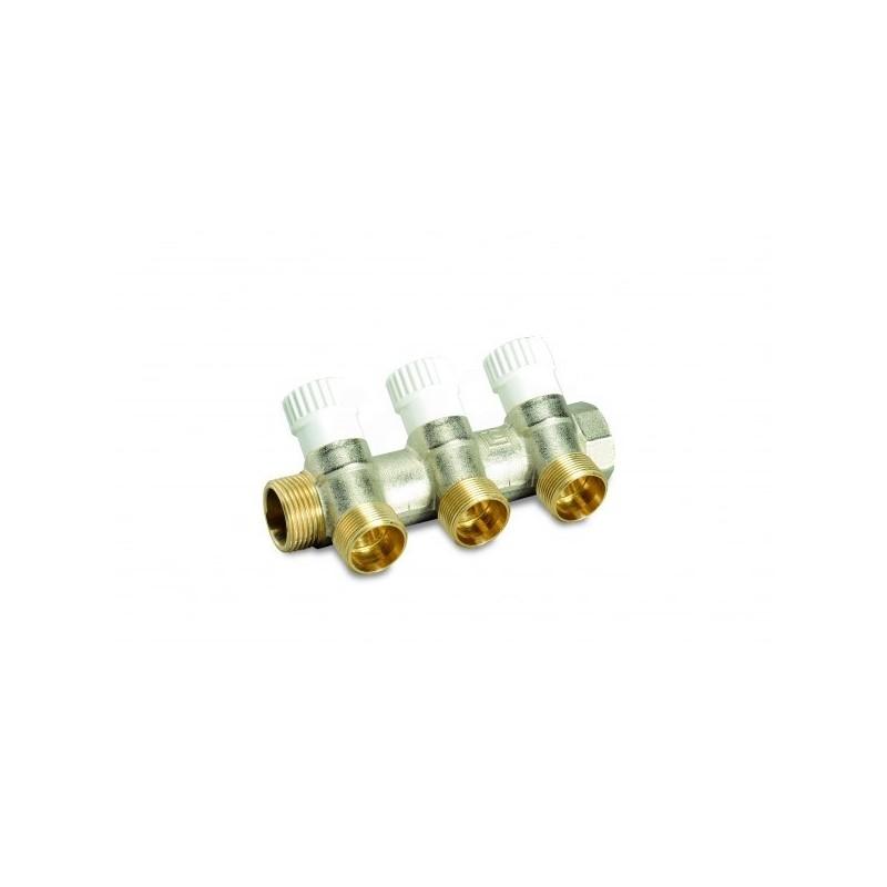 Cp 433 collettore componibile valvola Interc. 3/4Mf3 Att.M24X19  nichelato LUX68512703