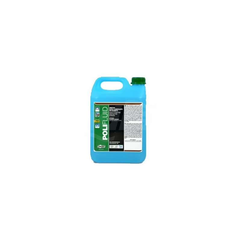 POLIFLUID Additivo fluidificante per massetto. Tanica 10kg FACPOLIFLUK010