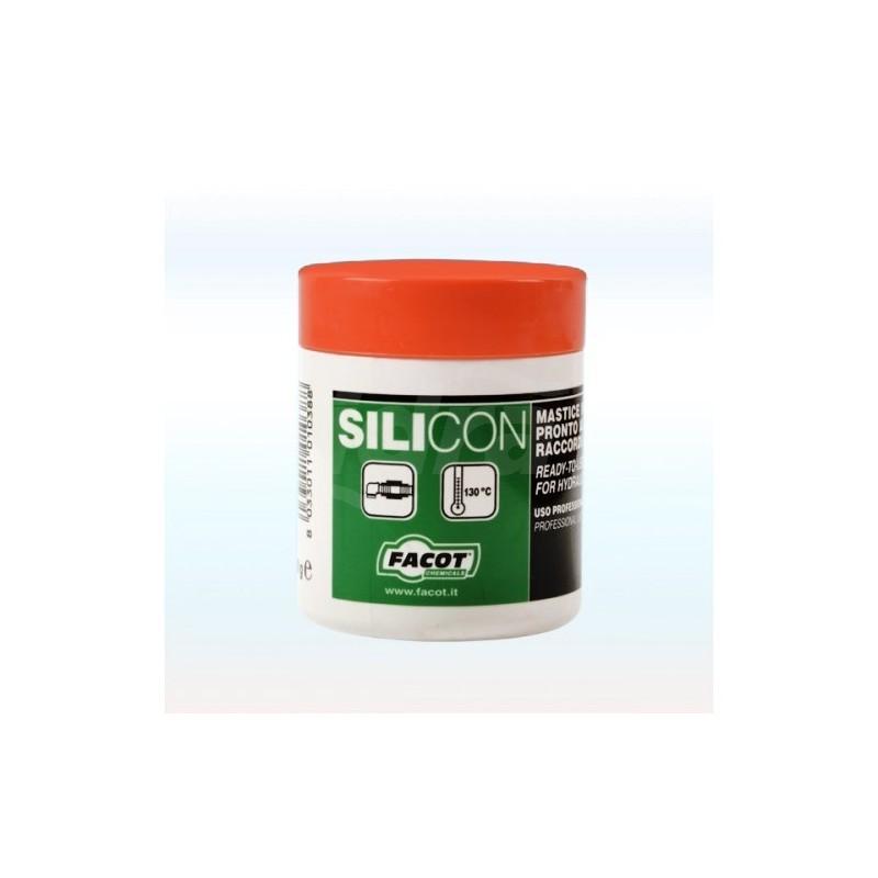 SILICON Mastice universale in pasta per acqua calda, fredda, gas, pronto all'uso. Barattolo 460gr SIBA0460 - Silicone/Stucco