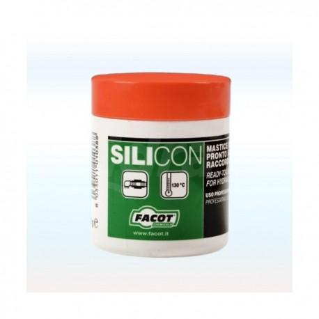 SILICON Mastice universale in pasta per acqua calda, fredda, gas, pronto all'uso. Barattolo 460gr FACSIBA0460