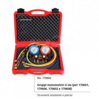 """Kit gruppi manometrici 4 vie II """"Plus"""" per 410A 170608 - Per refrigerazione/condiz."""