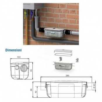 Neutralizzatore acque caldaie a condensazione (fino a 50 Kw) SFRSANINEUT