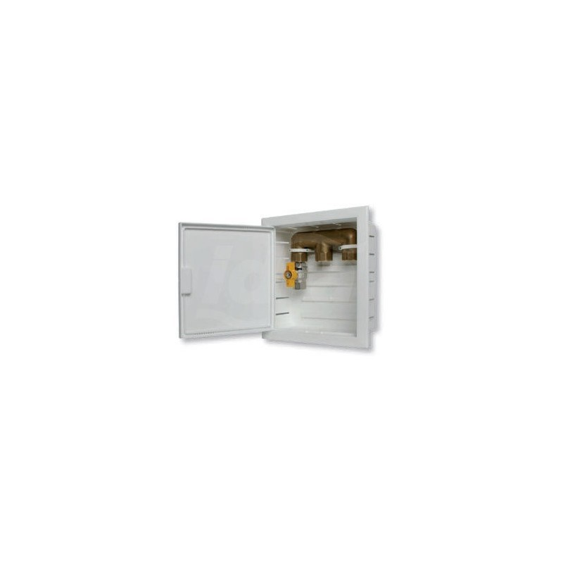 Scatola Incasso con collettore 3Vie 260X241X82 Bianco / Giallo NIC6501-011-01