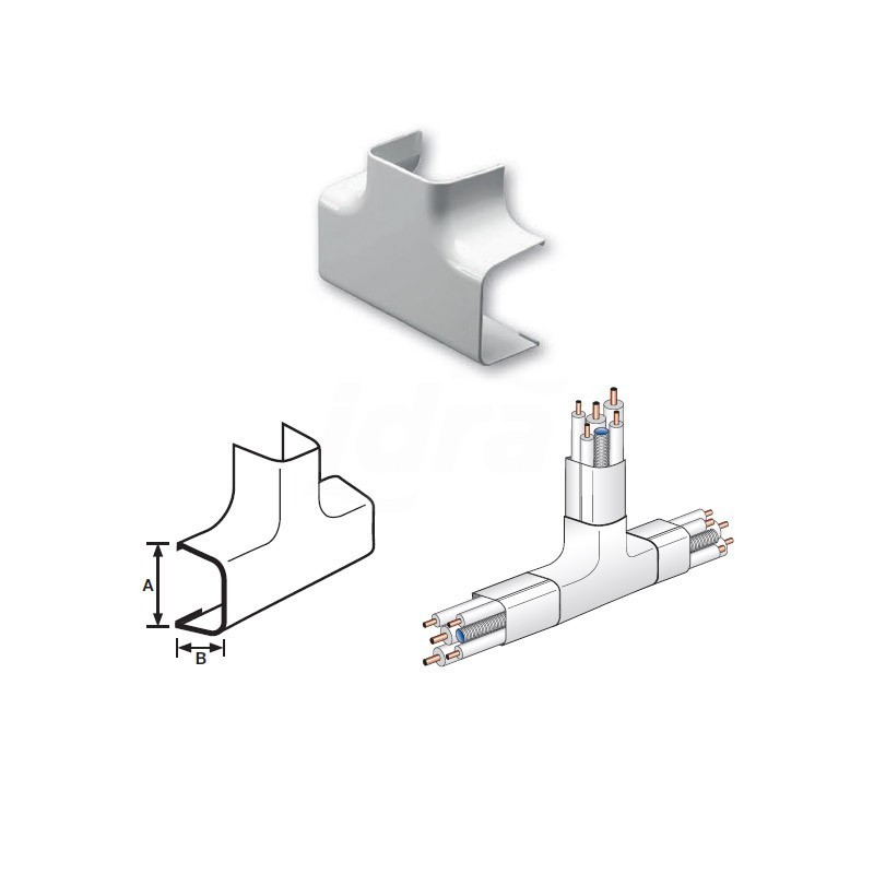 Curva a Tee Pvc 90X65mm NIC9802-200-08