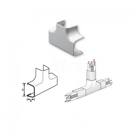 Curva a Tee Pvc 90X65mm 9802-200-08 - Canaline per tubi