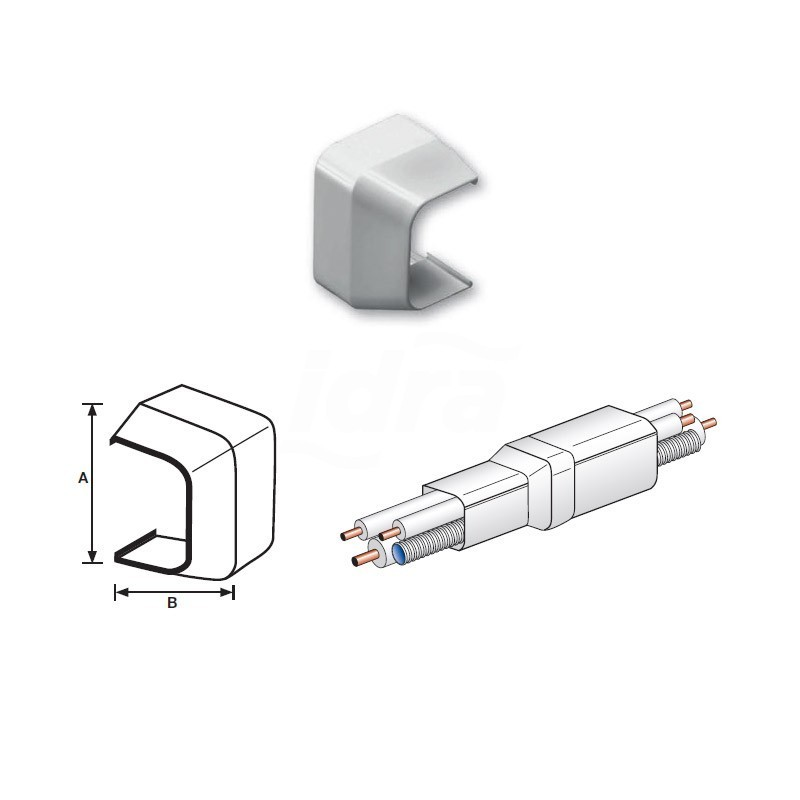 Riduzione Pvc 90X65mm per canalina 9802-201-08
