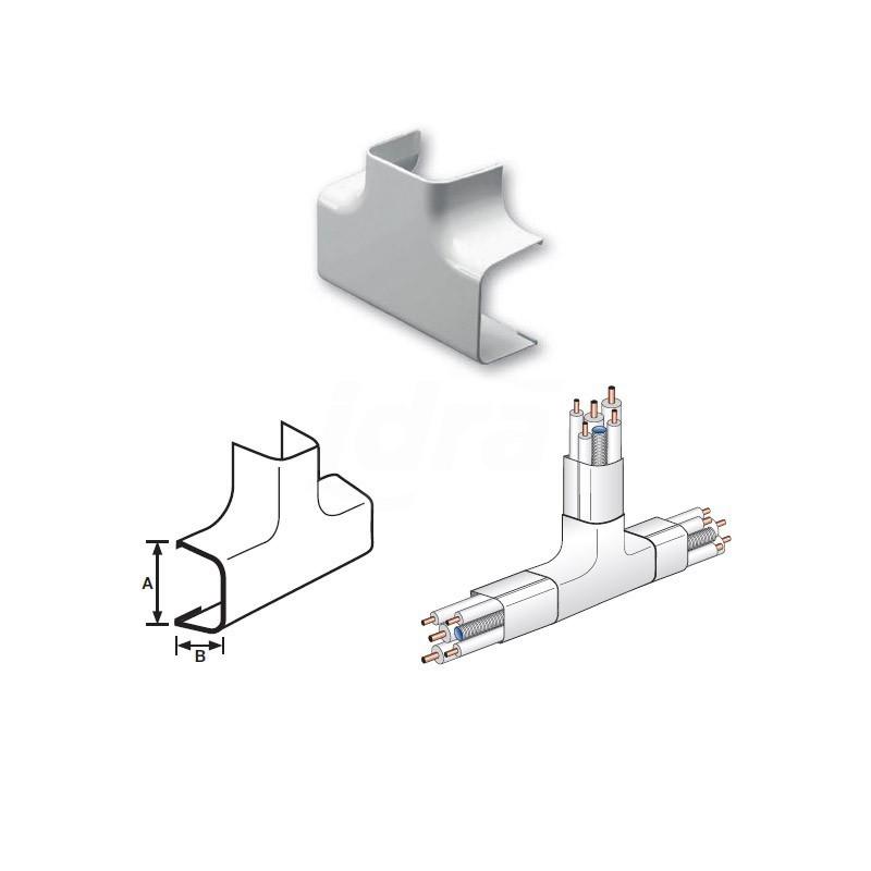 Curva a Tee Pvc 125X75mm NIC9803-200-08