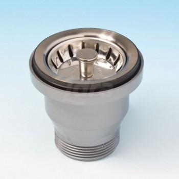 Basket Mini per lavelli inox e sintetici con foro di scarico Ø 60. Senza troppo pieno. LIR1954.007