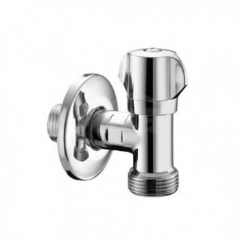 "558 rubinetto Lavatrice ø1/2""x3/4""m+rosone inox PIA05580400CR"