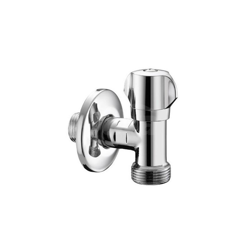 """558 rubinetto Lavatrice ø1/2""""x3/4""""m+rosone inox 05580400CR - Accessori"""