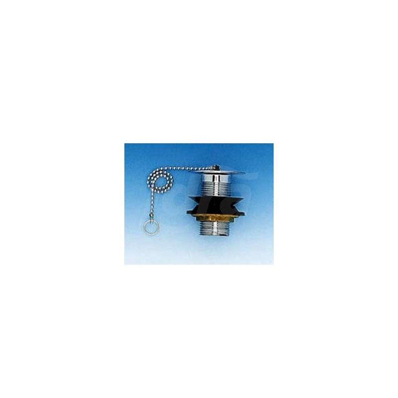 """Piletta Normale ottone  Crom. Ctp 1""""1/4 Tappo con Catena e Anello LUX94044200"""