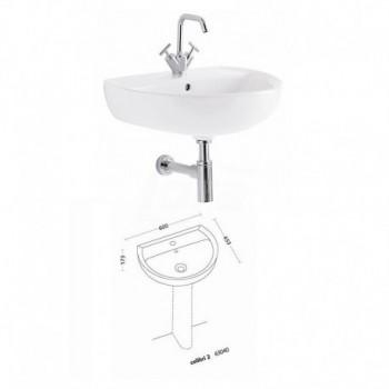COLIBRI 2 lavabo 60 cm finitura bianco 63040000