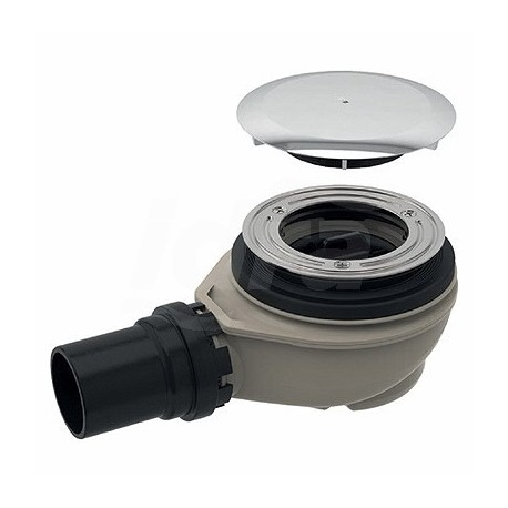 Sifone ø90 con tappo ø40mm 0,65lt/sec per piatto doccia 150.552.21.1 - Sifoni in plastica