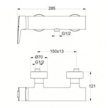 CONNECT BLU Miscelatore rubinetto monocomando esterno doccia cromato B9924AA - Gruppi per docce