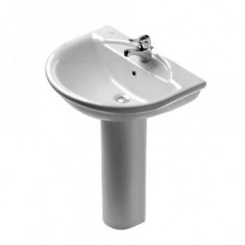 Esedra Lavabo 68x52 cm, foro centrale per la rubinetteria aperto, bianco G906861 - Lavabi e colonne