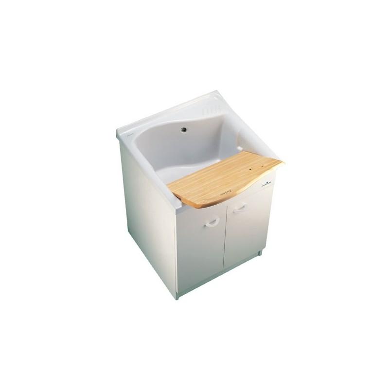 LAGO mobile sottolavatoio con asse 61x60cm bianco IDSJ088800