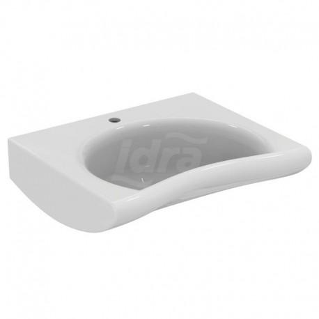 MAIA lavabo monoforo 67x59 bianco europa J498301 - Sanitari per disabili e comunità