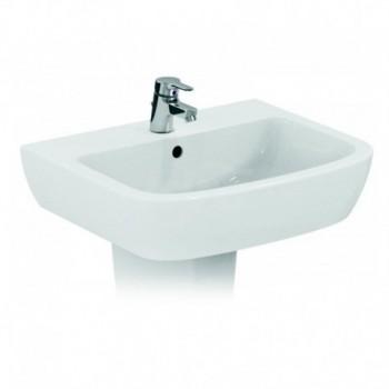 GEMMA 2 lavabo monoforo 50x44 bianco europa IDSJ521401