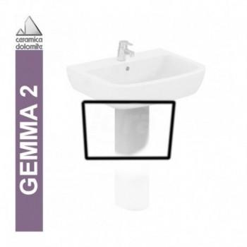 GEMMA 2 semicolonna per lavabo bianco europa IDSJ521601