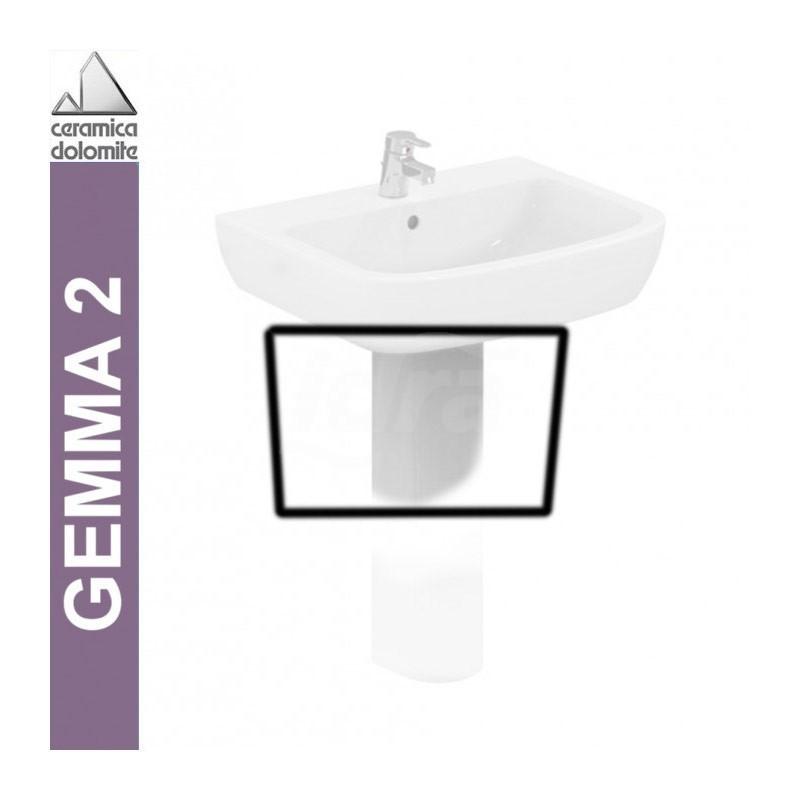 GEMMA 2 semicolonna per lavabo bianco europa J521601 - Lavabi e colonne