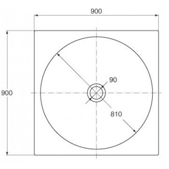 TONIC piatto doccia quadrato 90x90 ACRIL. bianco europa IDSK670301