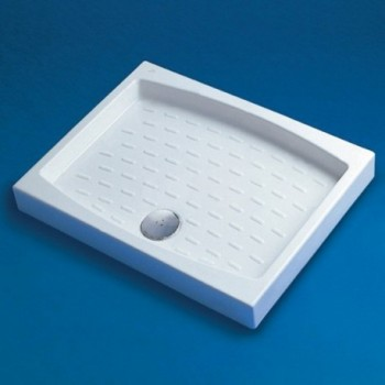 Piatto doccia ceramica 70X90 cm con foro piletta d.90 bianco europa T100601