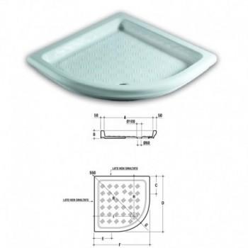 Piatto doccia angolo 80X80 cm bianco europa IDST117601