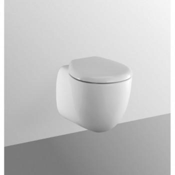 SMALL+ wc sospeso con sedile bianco europa NEW T305861 - Vasi WC