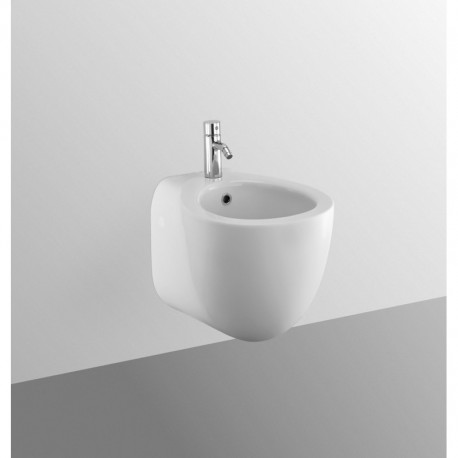 SMALL+ bidet sospeso monoforo bianco europa NEW T507561 - Bidet