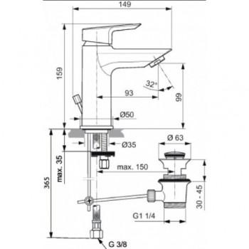 CERAMIX Miscelatore rubinetto monocomando lavabo cromato A6542AA