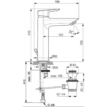 CERAMIX miscelatore monocomando lavabo H.15,2cm CR IDSA6544AA