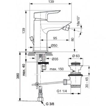 CERAMIX miscelatore monocomando bidet cromato IDSA6545AA