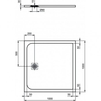ULTRAFLAT S piatto doccia 100x100 bianco IDSK8216FR