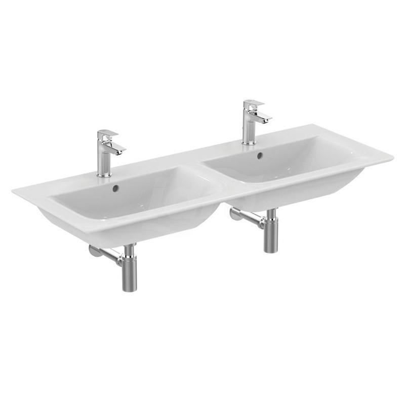 CONNECT AIR lavabo TOP DOPPIO C/F 120cm bianco europa IDSE027301