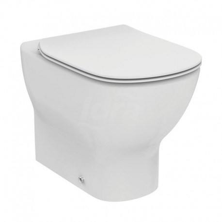 TESI wc vaso a pavimento AquaBlade filo parete con sedile slim senza chiusura rallentata, bianco T353701 - Vasi WC