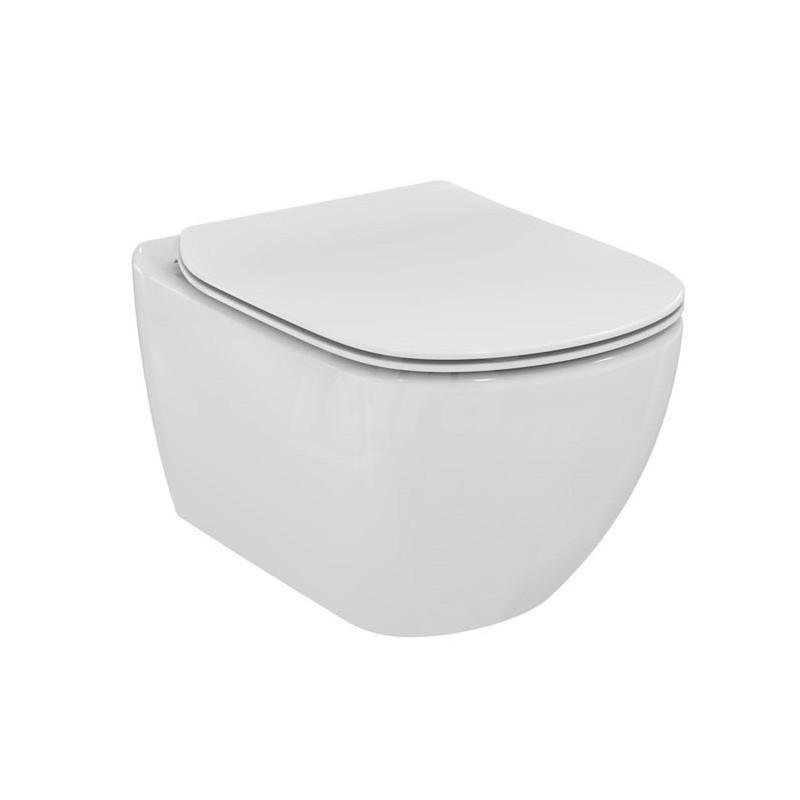 TESI wc sospeso + Aquablade + sedile slim a chiusura rallentata bianco europa IDST354601
