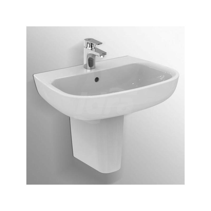 ESEDRA lavabo 65X47 bianco europa 1F TP SCT T279701 - Lavabi e colonne
