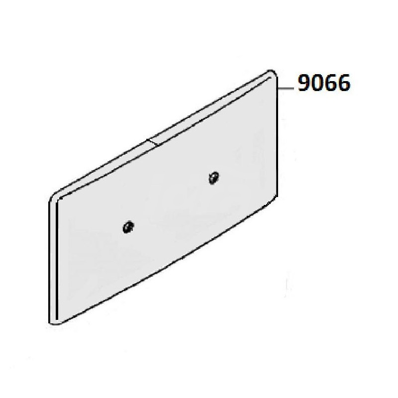 Placca bianca esterna Pucci PUCC9066 - Accessori