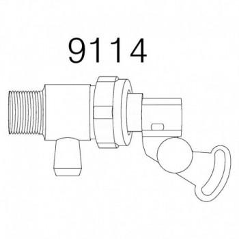Valvola rubinetto galleggiante Pucci attacco laterale TIRPUCC9114